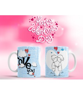 "TAZA SAN VALENTÍN ""LOVE YOU"""