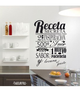 Vinilo Decorativo Receta Secreta